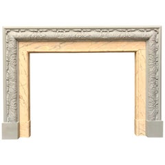 Edwardian Period Wood and Gesso Bolection Fireplace Surround