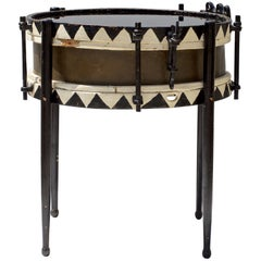 19th Century Chic and Petite Drum Cocktail Table