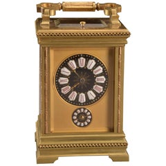 Carriage Clock with Limoges Dial, circa 1900