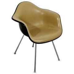 Mid-Century Modern Original Eames Herman Miller Naugahyde Shell Armchair 1960s
