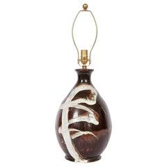 American Craft Movement High Gloss Art Pottery Table Lamp