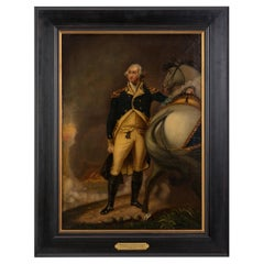 """George Washington at Dorchester Heights"" after Gilbert Stuart, Oil on Canvas"