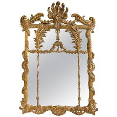 La Barge Italian Style Foliate Giltwood Wall, Console or over the Mantle Mirror