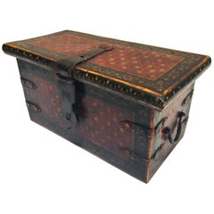 Rajasthani Hand-Painted Large Decorative Coffer Trunk