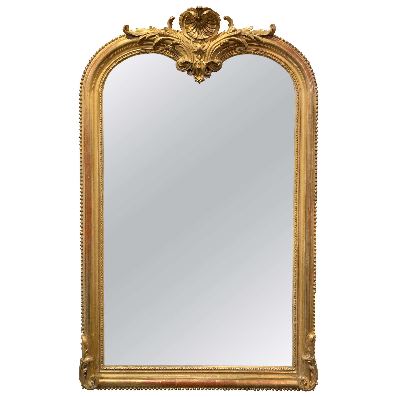 19th Century French Louis XVI Giltwood Mirror