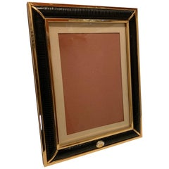 Wonderful Gucci Brass Snake Skin Picture Frame Made in Italy Wood Back