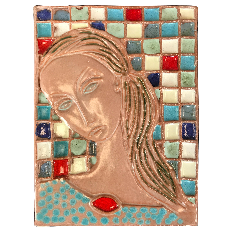 Wonderful Large Harris Strong Woman Tile Art A