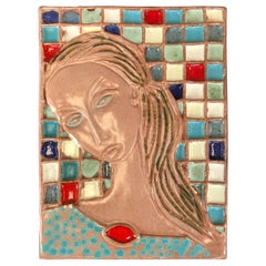 Wonderful Large Harris Strong Woman Tile Art A