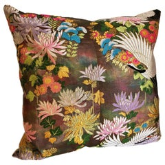 Custom Pillow by Maison Suzanne Cut from a Vintage Japanese Silk Uchikake