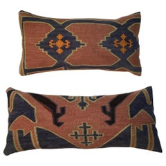 Pair of Antique Kazak Pillows