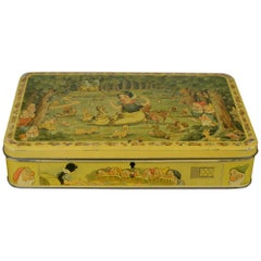 Walt Disney Biscuit Tin, Snow White and the Seven Dwarfs, Late 1930s, Belgium