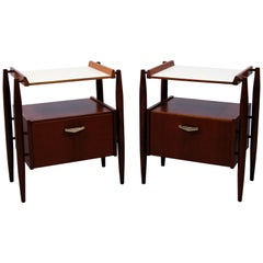 Pair of Midcentury Italian Nightstands by Dal Vera, 1960s