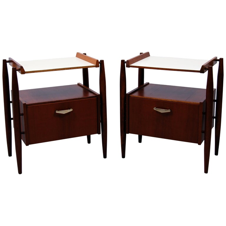 Pair of Midcentury Italian Nightstands by Dal Vera, 1960s For Sale