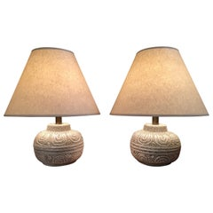 Danish Modern Ceramic Lamps