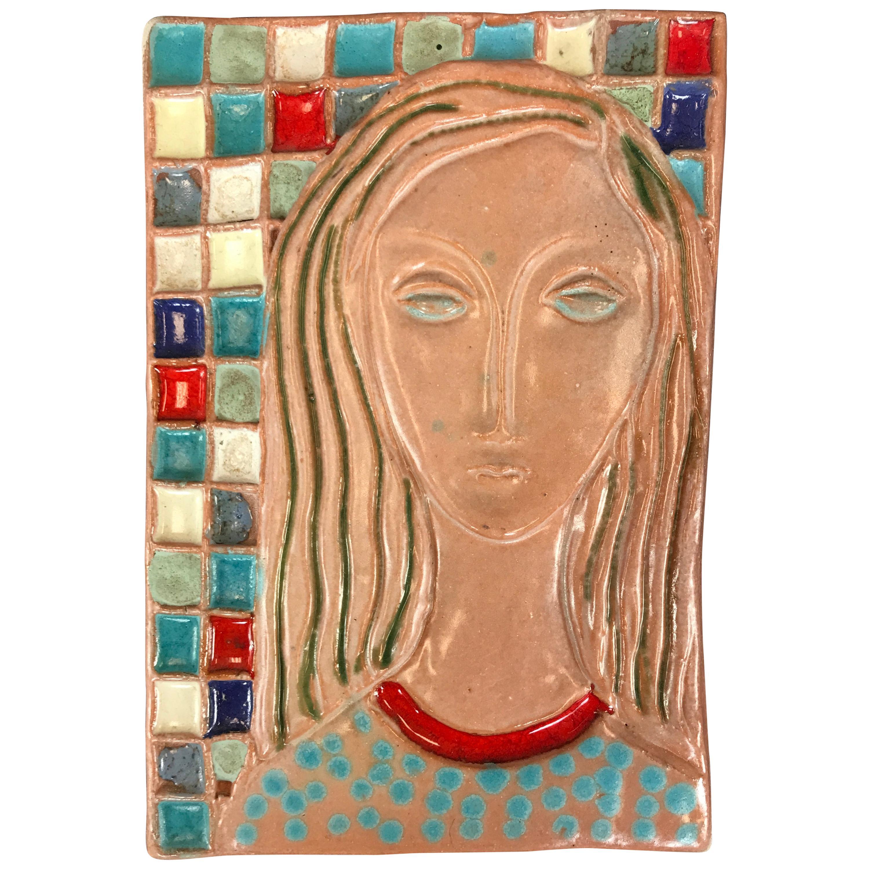 Stunning Large Harris Strong Woman Tile Art B
