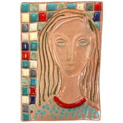 Stunning Large Harris Strong Woman Tile Art B