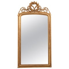 French Early 19th Century Louis XV-Style Gold Gilt Mantel Mirror