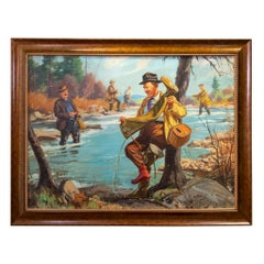 """""""A Soggy Inconvenience"""" Original Oil Painting by Henry Hintermeister"""