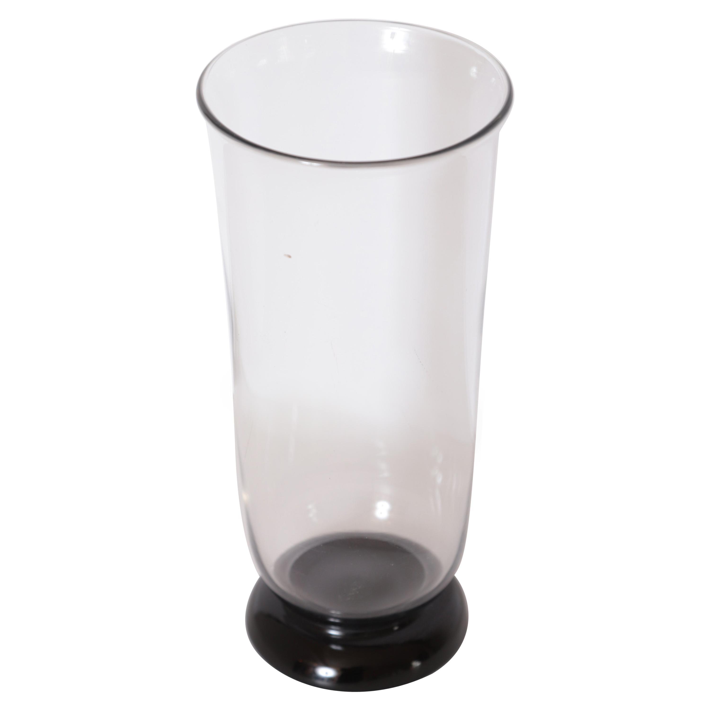 Art Deco Keith Murray Glass Vase for Stevens & Williams / Royal Brierley