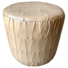 Crème Leather Patchwork Ottoman by De Sede