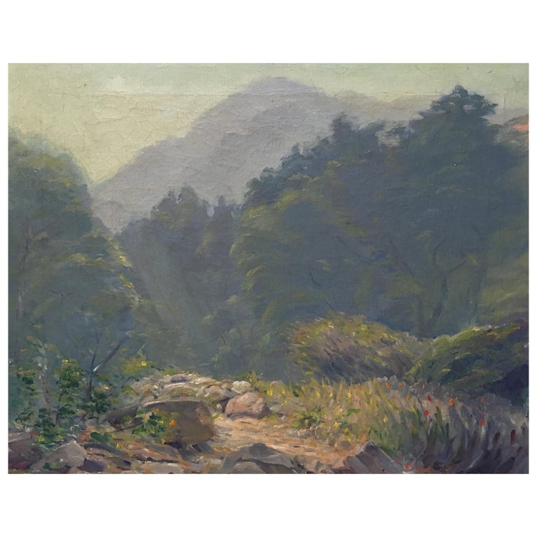 California Oil on Canvas Painting, 19th Century For Sale
