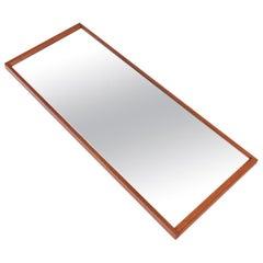 Danish Modern Aksel Kjersgaard Teak Wall Mirror #2