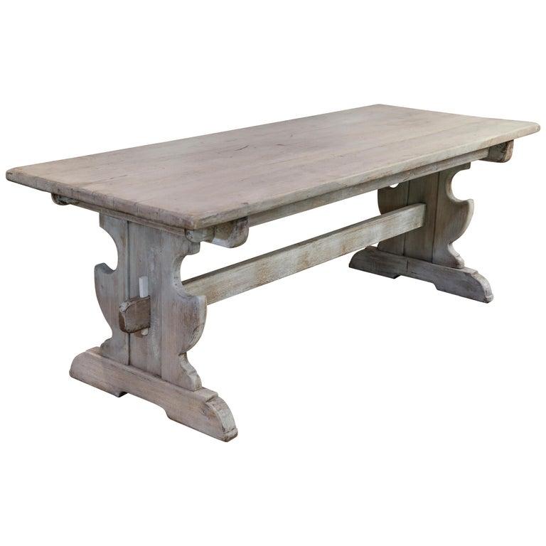 Belgian Oak Trestle Dining Table