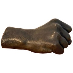 Model of a Human Fist in Bronze, by the Roman Bronze Works NY