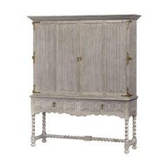 Provincial Greyed Oak TV Cabinet