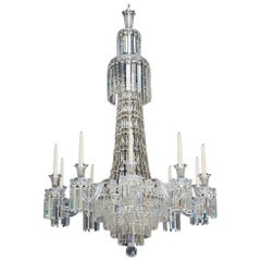Ten Light Victorian Tent and Waterfall Chandelier by F&C Osler