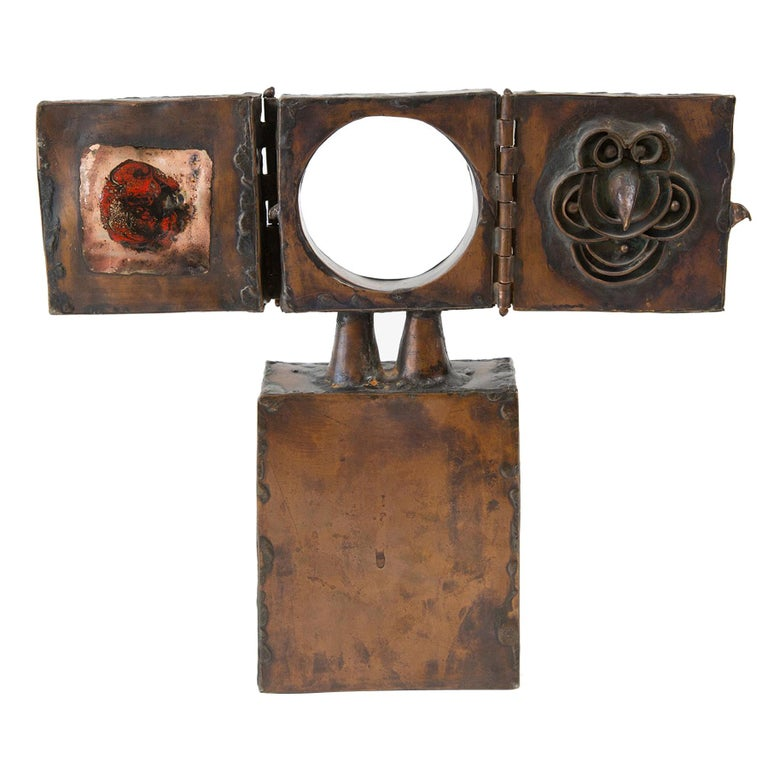 David Laughlin Brutalist Copper Sculpture