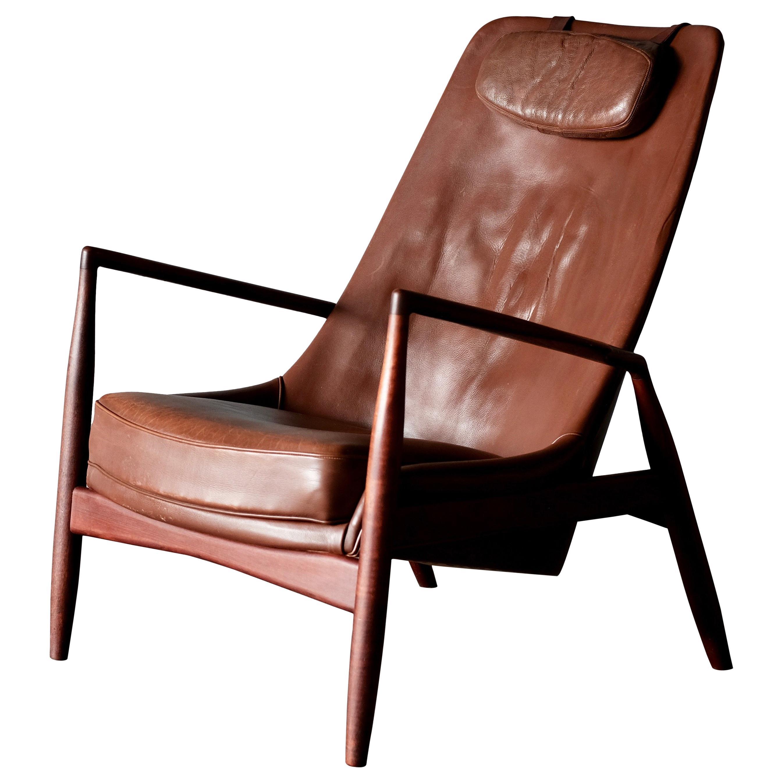 "Ib Kofod-Larsen, rare High Backed ""Seal"" Chair"