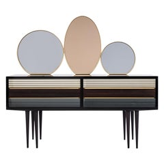 Baxter Buffet No. 2 in Rosewood with Tinted Mirrors, circa 1950 by Draga & Aurel