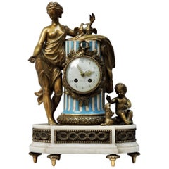 French 19th Century Ormolu and Sèvres Porcelain Clock