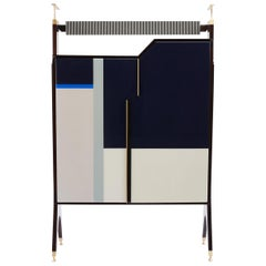 Baxter Jonas Cabinet in Rosewood with Geometric Facade by Draga & Aurel