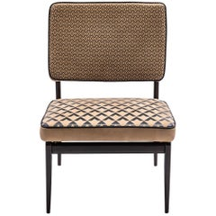 Baxter Armchair No. 6 in Tan Leather with Diamond Motif by Draga & Aurel
