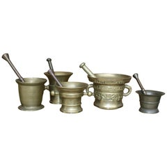 Germany Pharmacy Apothecary Mortar with Pestles, Set of 5