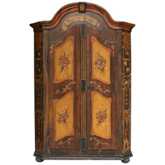 Antique German Hand Painted Armoire from 1844