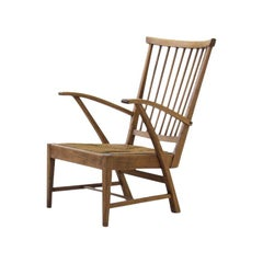 Wooden Armchair, the Netherlands, circa 1950s-1960s