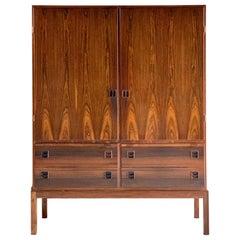 Bernhard Pedersen & Son Brazilian Rosewood Cabinet Denmark, Midcentury 1960