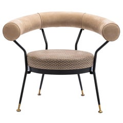Baxter Armchair No. 3 with Round Back and Diamond Chain Print by Draga & Aurel