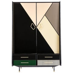 Baxter Cabinet No. 2 in Rosewood with Multi-Tone Facade by Draga & Aurel