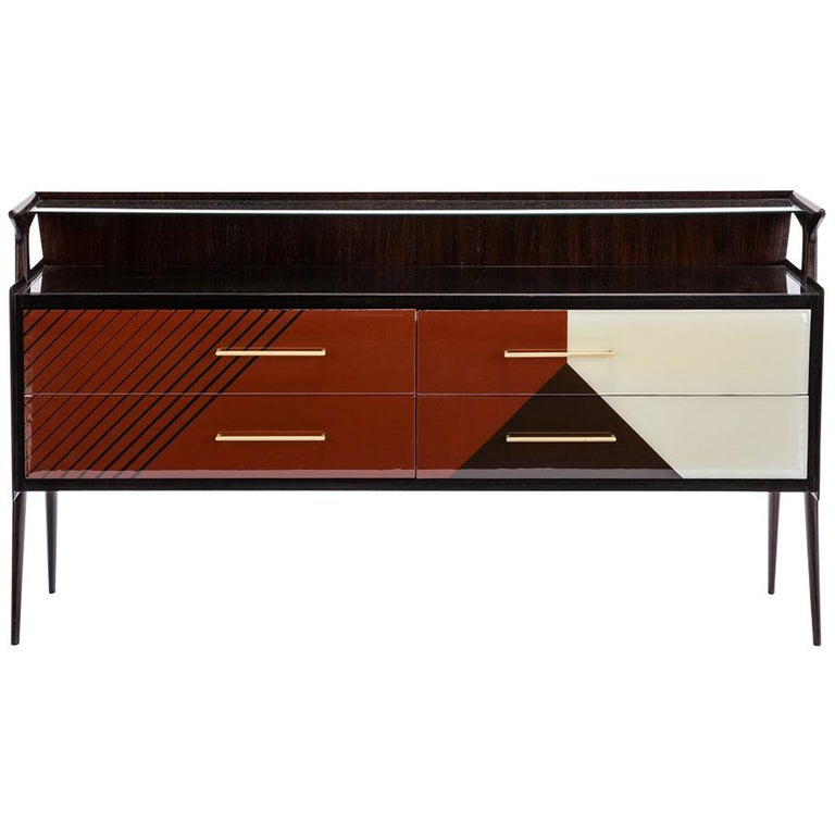 Baxter Maurizio Cabinet in Rosewood with Multi-Tone Facade by Draga & Aurel For Sale