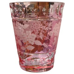 Hand Blown Country Style Crystal Vase Pink Sofina Boutique Kitzbuehel