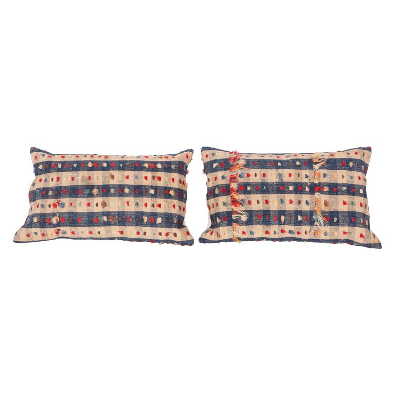 Pillow Cases Fashioned from an Anatolian Kilim Fragment, Late 19th Century For Sale