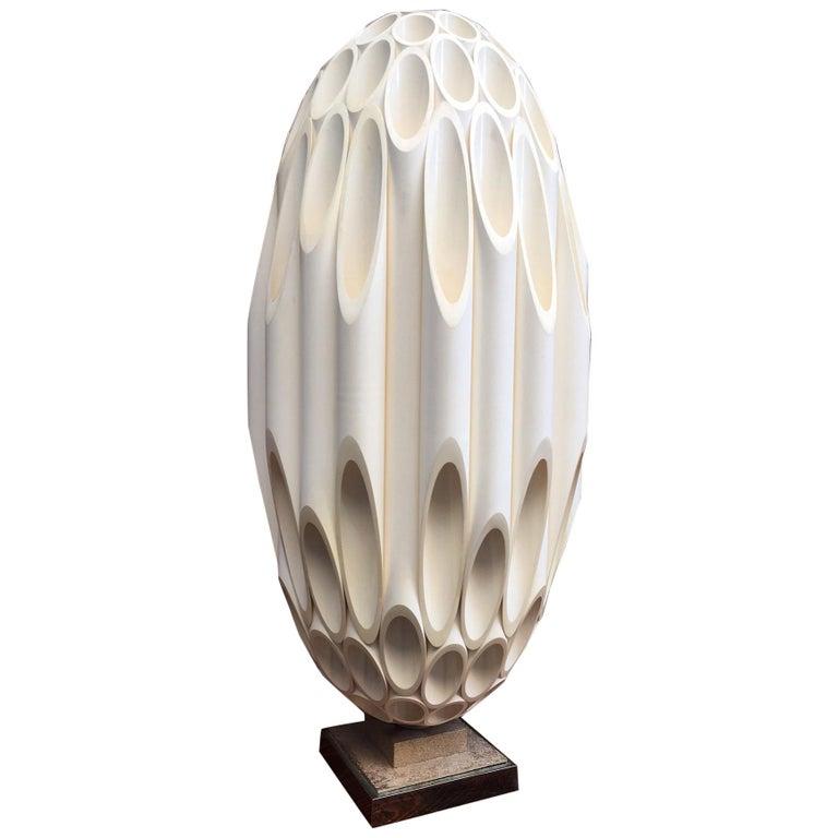 Roger Rougier Sculptural Post Modern Lamp For Sale