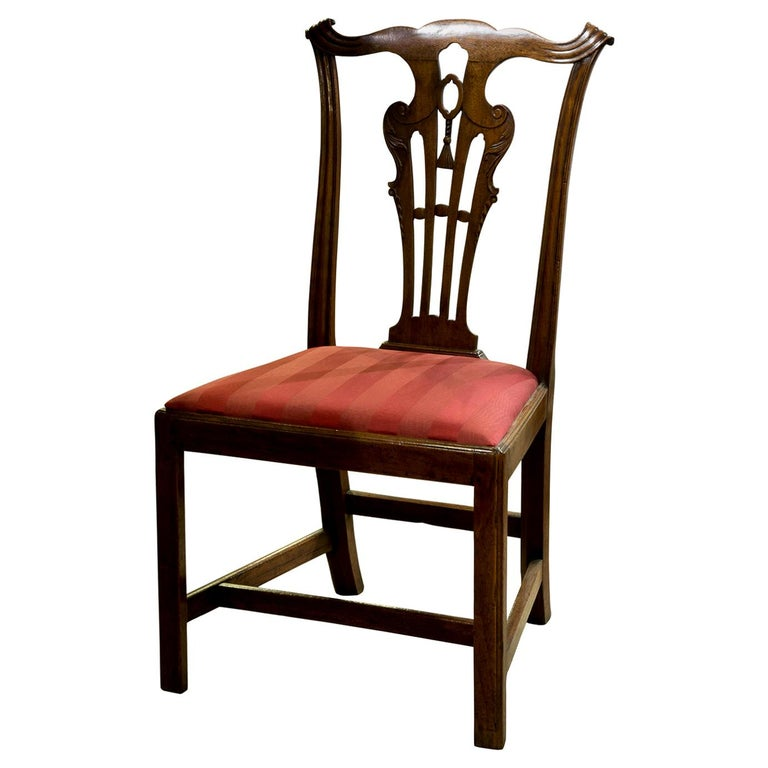 George III Carved Walnut Standard Chair in the Manner of John Whitby For Sale