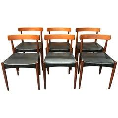 Danish Midcentury Dining Chairs by Arne Hovmand Olsen for Mogens Kold, Set of 6