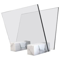 Marble and Glass Magazine Stand