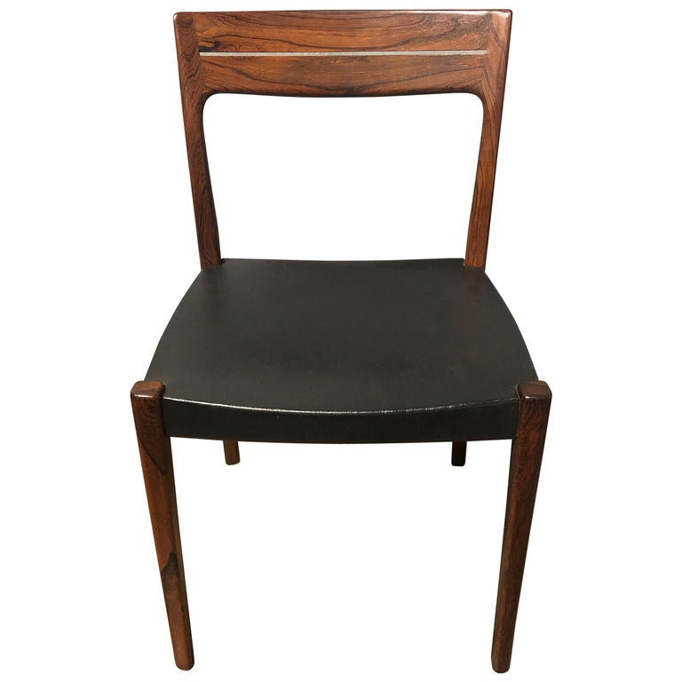 Midcentury Rosewood Side Chair For Sale
